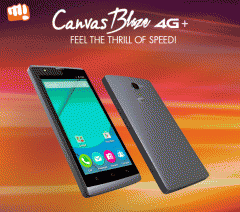 Micromax Canvas Blaze 4G+ is now official