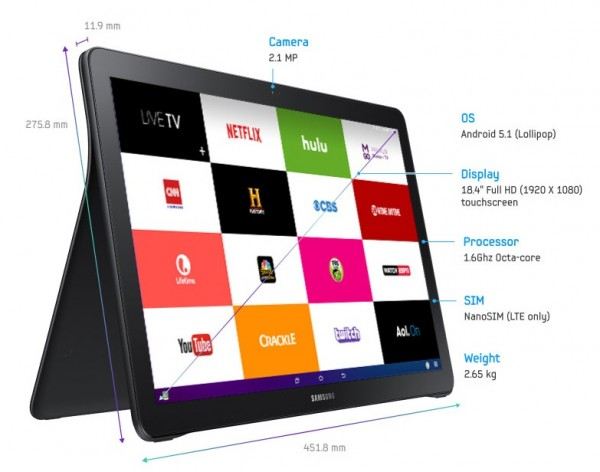 Samsung Galaxy View tablet goes official